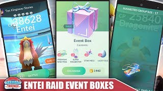 NEW ENTEI EVENT BOXES ARE LIVE! ARE THEY WORTH THE BUY vs THE ULTRA BOX?! POKEMON GO