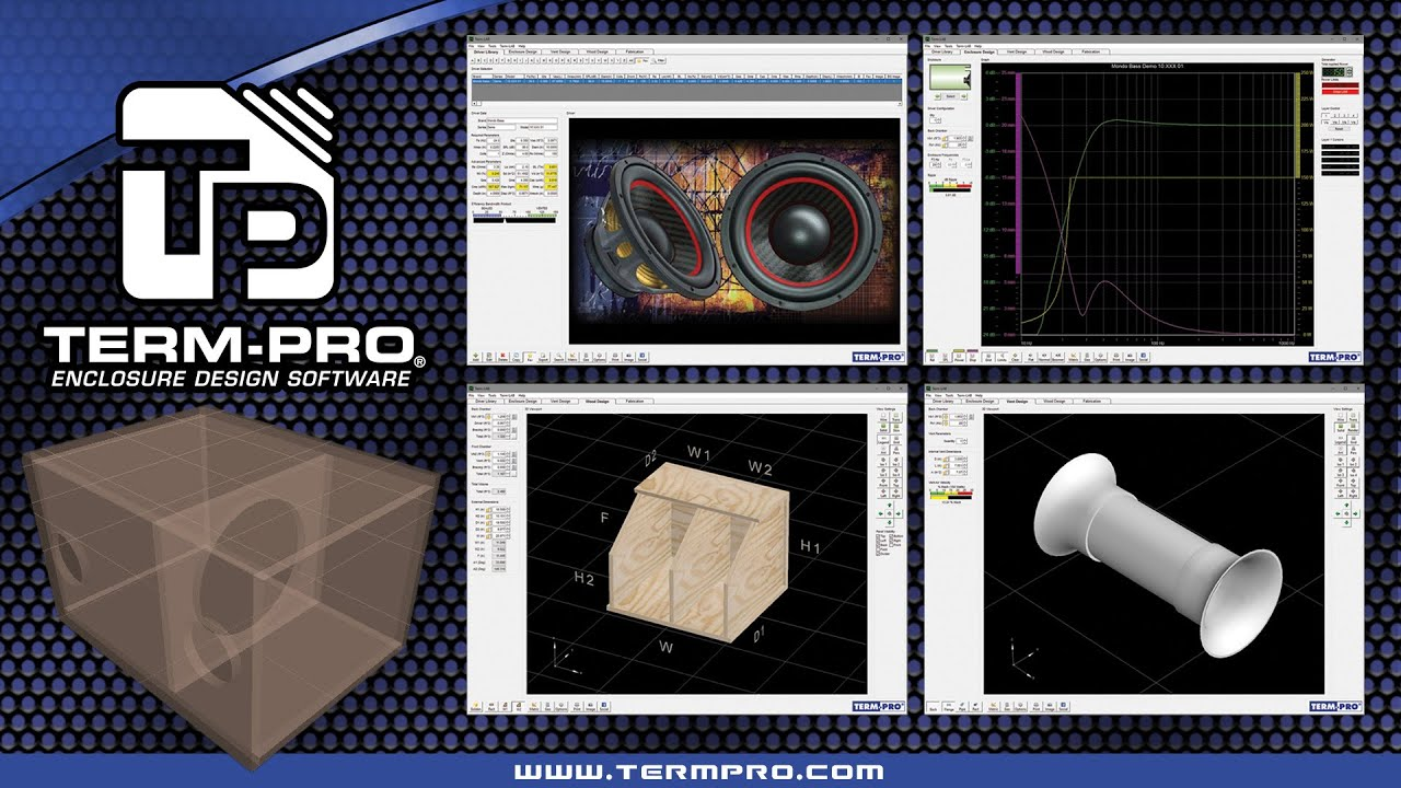 Term pro loudspeaker enclosure design software video Simple 3d design software