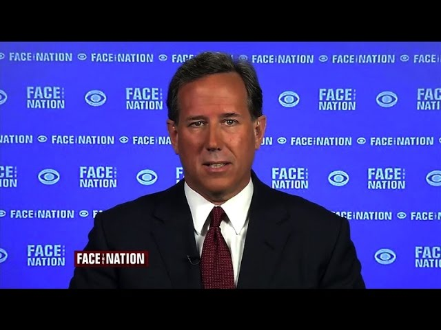 """Santorum on Iran nuclear deal: """"Folly from its foundation"""""""