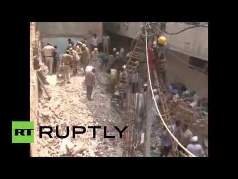 India: Building collapse in North Delhi leaves several dead