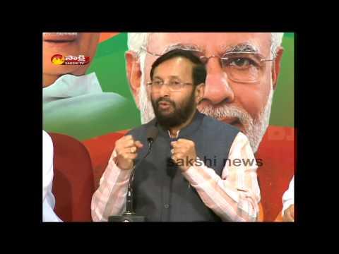 Two Telugu states are equal says Prakash javadekar