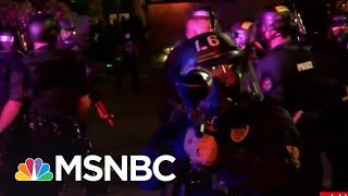 Louisville Police Fire Pepper Bullets At Reporter And Crew | MSNBC