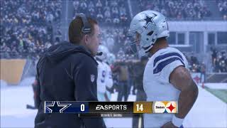 MADDEN 18 THE DALLAS COWBOYS VS THE PITTSBURGH STEELERS - SNOW GAME!!!
