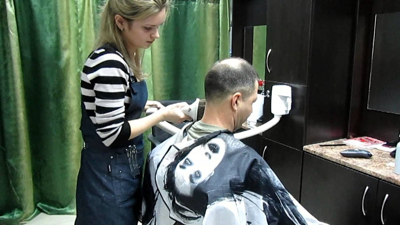 Barber Youtube : barbershop with central vacuum - YouTube