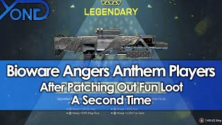 Bioware Angers Anthem Players by Patching Out Fun Loot a Second Time
