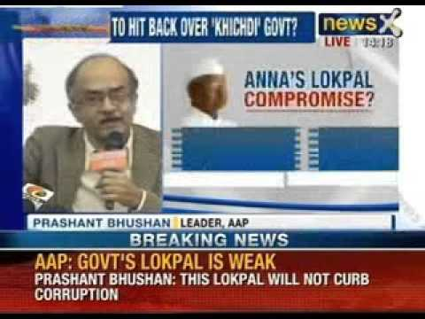 News X: Anna's bill is Jokepal, and not Lokpal that we have fought for, says AAP klip izle