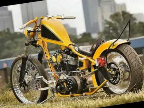 "Gangster Choppers Presents the ""Fools Gold"" bike."