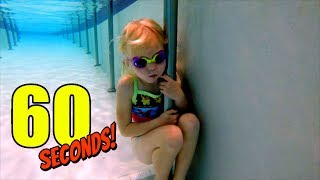 How to hold your breath and breathe underwater. Breath Hold Challenge!