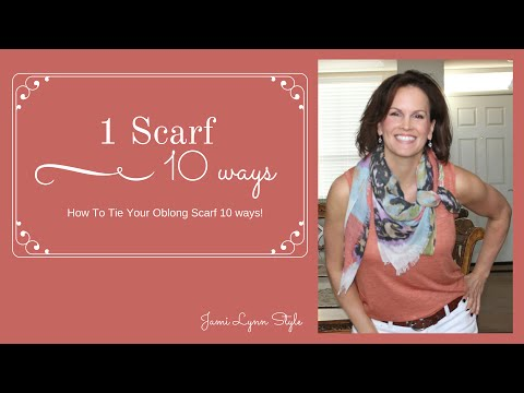 How to Tie Your Scarf 10 Ways