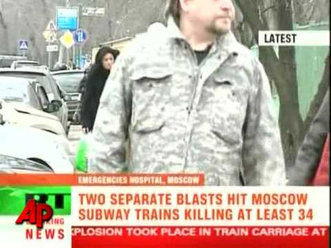 Raw Video: Moscow Subway Blasts Kills Dozens Video