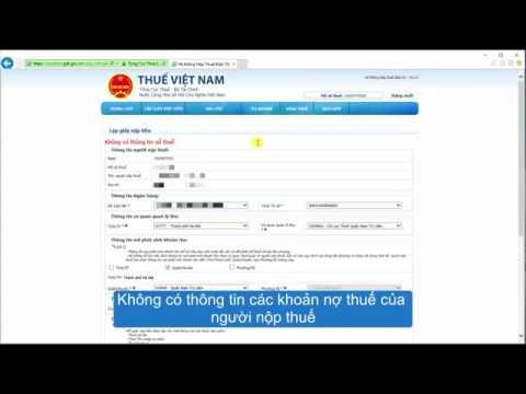 Hướng dẫn lập giấy nộp tiền dịch vụ nộp thuế điện tử