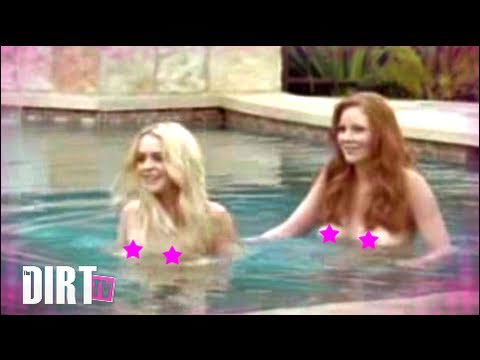 Lindsay Lohan naked in Pool - The Dirt TV