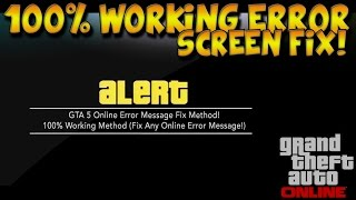 "GTA 5 ""Fix Error Screens On GTA 5 Online"" Patch 1.16+ ""GTA 5 Alert Fix"" NEW ""1.16 Save Data Fix"""