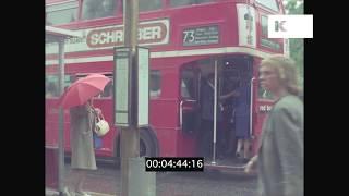 1970s London Street, Bus Stop, Rain, HD from 35mm | Kinolibrary