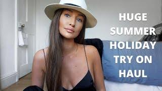 HUGE 2018 SUMMER HOLIDAY TRY ON HAUL - ASOS, ZARA, H&M | aliceoliviac