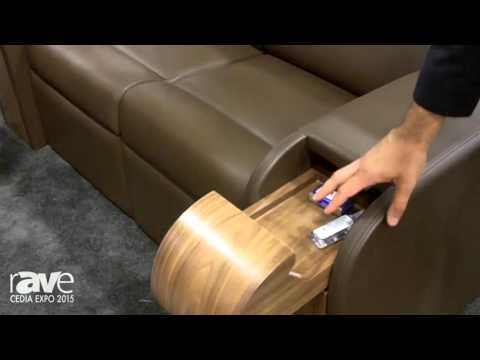 CEDIA 2015: Elite Home Theater Seating Shows Off Its Custom Seating With Hidden Cupholders, Storage