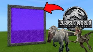 Minecraft Pe How To Make a Portal To The Jurassic World Dimension - Mcpe Portal To Jurassic World!!!