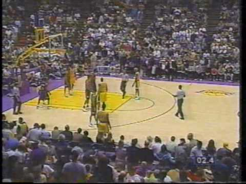 Dennis Rodman vs Kurt Thomas and Shaq Dunks on Chris Dudley Knicks vs Lakers game from 1999