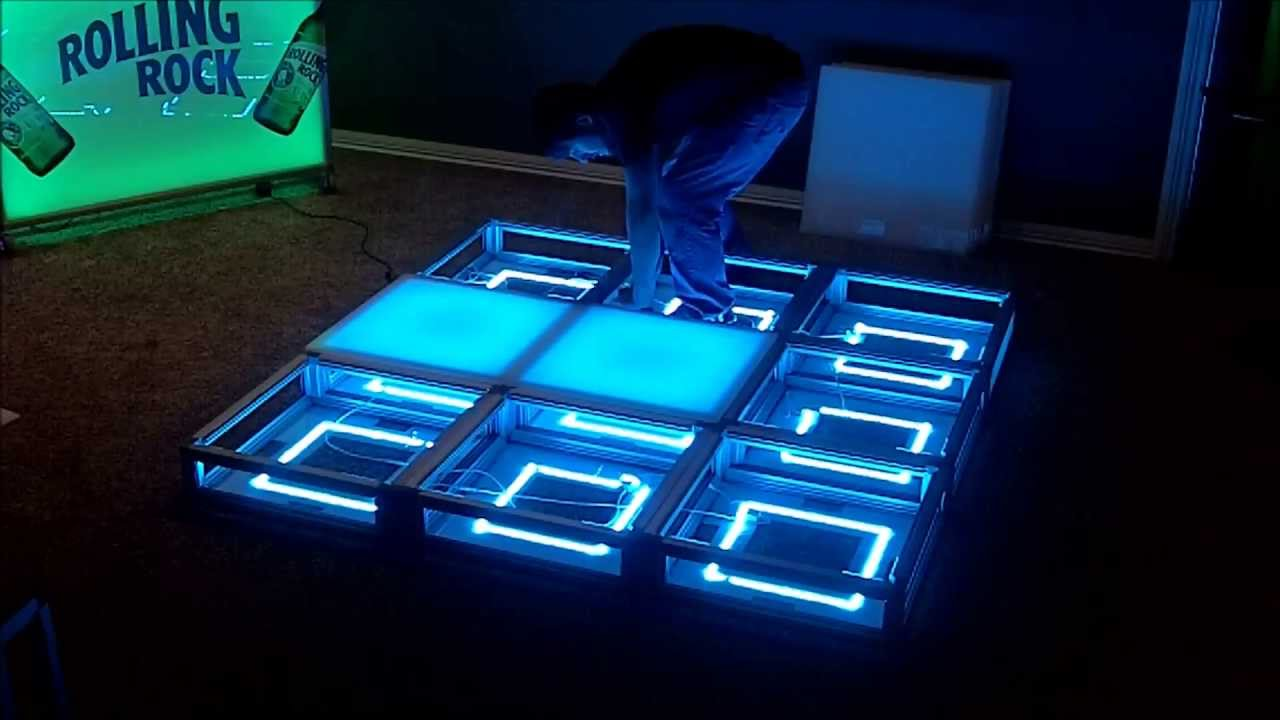 Portable Dance Floor With Lights : Minute led lighted portable dance floor breakdown youtube