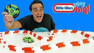 Little Tikes You Drive Flex Tracks with RC Muscle Car ! || Toy Review || Konas2002