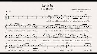 LET IT BE:  (flauta, violín, oboe...) (partitura con playback)