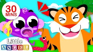 Jungle Animal Songs, No No, Where are my Stripes? | Kids Songs and Nursery Rhymes by Little Angel