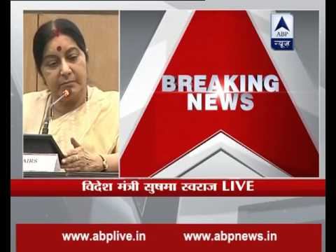 Terrorism and talks cannot go hand in hand, says Sushma Swaraj on talks with Pakistan