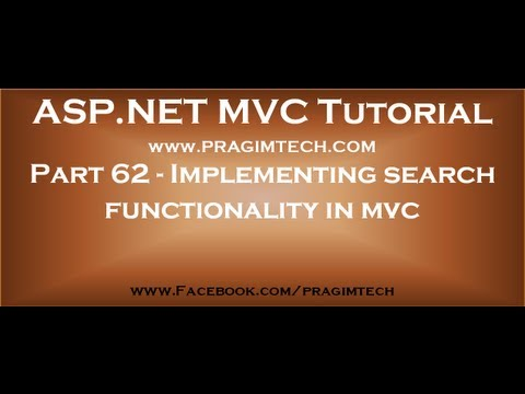 Part 62   Implementing search functionality in asp net mvc