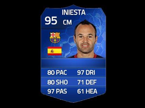Iniesta Fifa 14 Card Fifa 14 Toty Iniesta 95 Player
