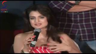 "Amisha Patel HOT Underarms @ ""RACE 2"" Press Conference"