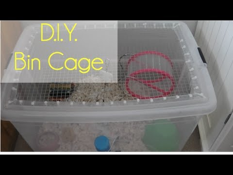 D i y bin cage youtube for Plastic bin guinea pig cage