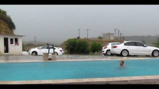 Simsek,yagmur,ruzgar ve havuz da yuzmek-Flash,Rain,Wind and Enjoying swimming pool