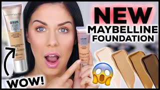 NEW MAYBELLINE URBAN COVER FOUNDATION!! FIRST IMPRESSIONS & 12 HOUR WEAR TEST!!