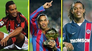 Ronaldinho DESTROYING his opponents in Europe - Barcelona, PSG and Milan