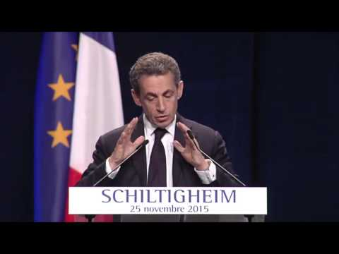 Discours de Nicolas Sarkozy à Schiltigheim - 25 novembre 2015