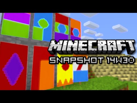 Minecraft: Banners Super Chunk Loading More Snapshot 14w30b