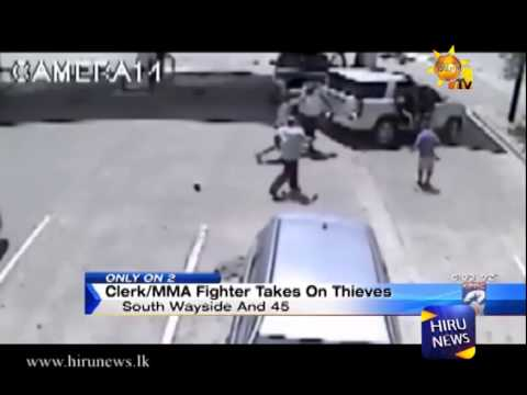 Gas Station Sri Lankan Clerk With Mma Training Surprises Thieves video