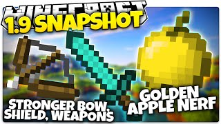 Minecraft 1.9 Snapshot | GOLDEN APPLE NERF, Void Biome, Weapon Buffs (Minecraft 1.9 News)
