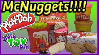 Play-Doh McDonald's Chicken McNuggets Happy Meal Playshop (1999) Review by Bin's Toy Bin