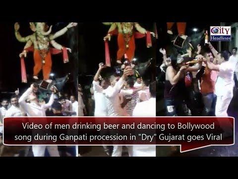 "Men consuming Alcohol during Ganpati procession in ""Dry"" Gujarat, Video Viral"