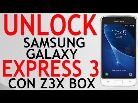 UNLOCK SAMSUNG GALAXY EXPRESS 3 J120A AT&T CON Z3X BOX. LEER CODIGOS.