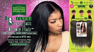 Janet Collection 1 Pack Solution Bundles + Frontal | Beauty Supply Hair | Stocking Cap Method
