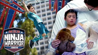 Ninja SHATTERS His Elbow... Trains Hard to Come Back for Redemption! | American Ninja Warrior Junior