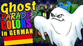 Halloween Ghost Teaching German Language Colors Educational Language Video for Kids