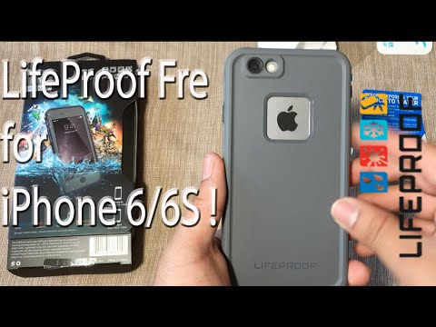iPhone 6S: LifeProof Fre   Grind Grey + Water Test