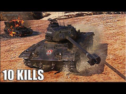 10 фрагов на лт ЧЁРНЫЙ БУЛЬДОГ World of Tanks leKpz M 41 90 mm GF
