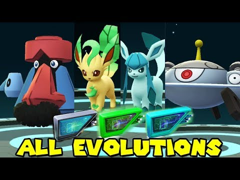 ALL NEW LURE MODULE EVOLUTIONS IN POKEMON GO - LEAFEON,GLACEON,PROBOPASS,MAGNEZONE