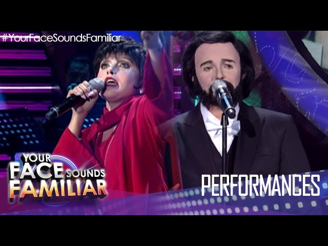 "Your Face Sounds Familiar: KZ Tandingan as Liza Minelli and Luciano Pavarotti - ""New York, New York"""