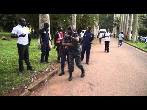 Ghana Police Officers Unveil The Single Spine Salary Dance