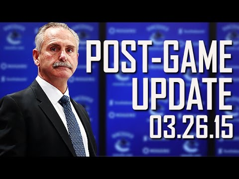 Willie Desjardins Post-Game vs Colorado (Mar. 26, 2015)
